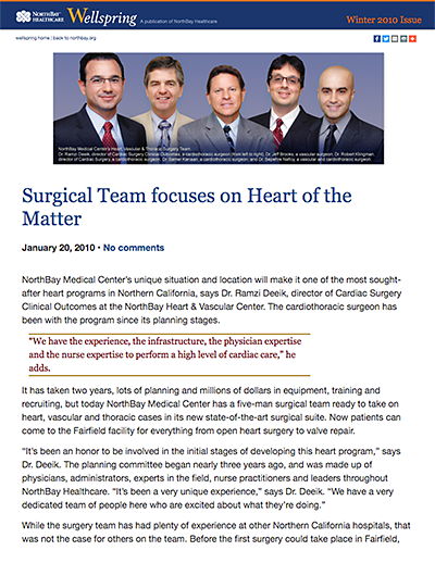 Surgical Team Focuses on the Heart of the Matter