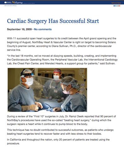 Cardiac Surgery Has Successful Start